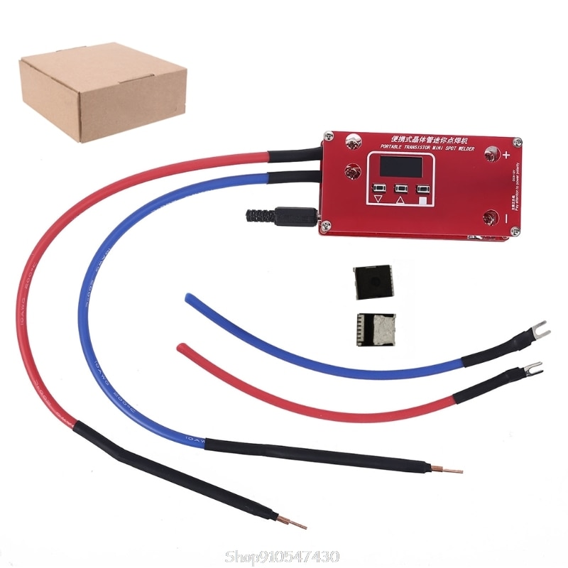Portable Transistor DIY Mini Spot Welding Machine 18650 Lithium Battery LCD Display Screen Spot Welder with 2 Mos Tubes N10 20