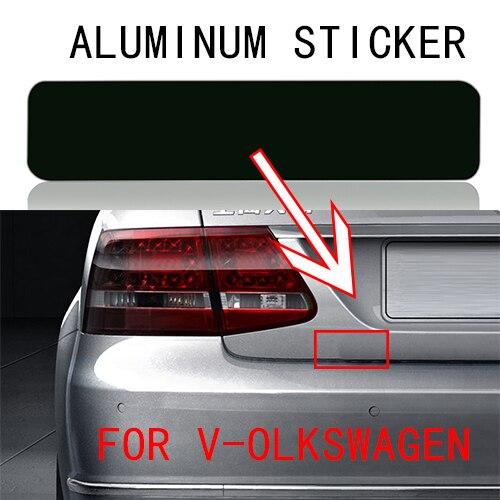 Autocollant demblème dalliage de feuille daluminium de style de voiture de 1 pièces pour VW Volkswagen Passat B6 B7 Wolfsburg Tiguan Lavida Sagitar Magotan