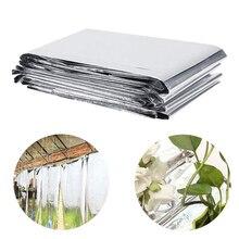 Film réfléchissant pour plantes   Couverture de plante, pour serre de jardin, feuilles daluminium couvrant les plantes de jardin, accessoires légers