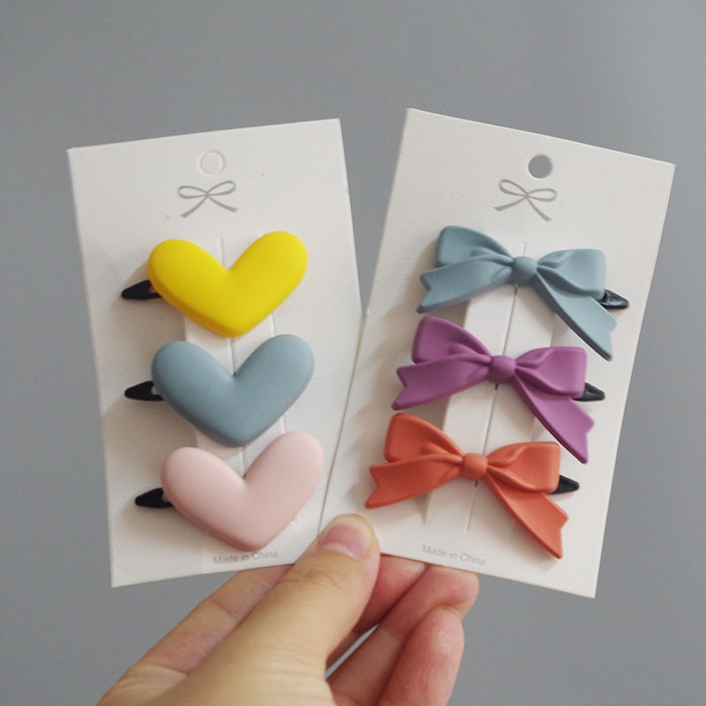 Candy Color Star Heart Hair Clip Children Flower Bow Cute Girls Barrettes Hairpin Headwear Baby Girl Hair Accessories  - buy with discount