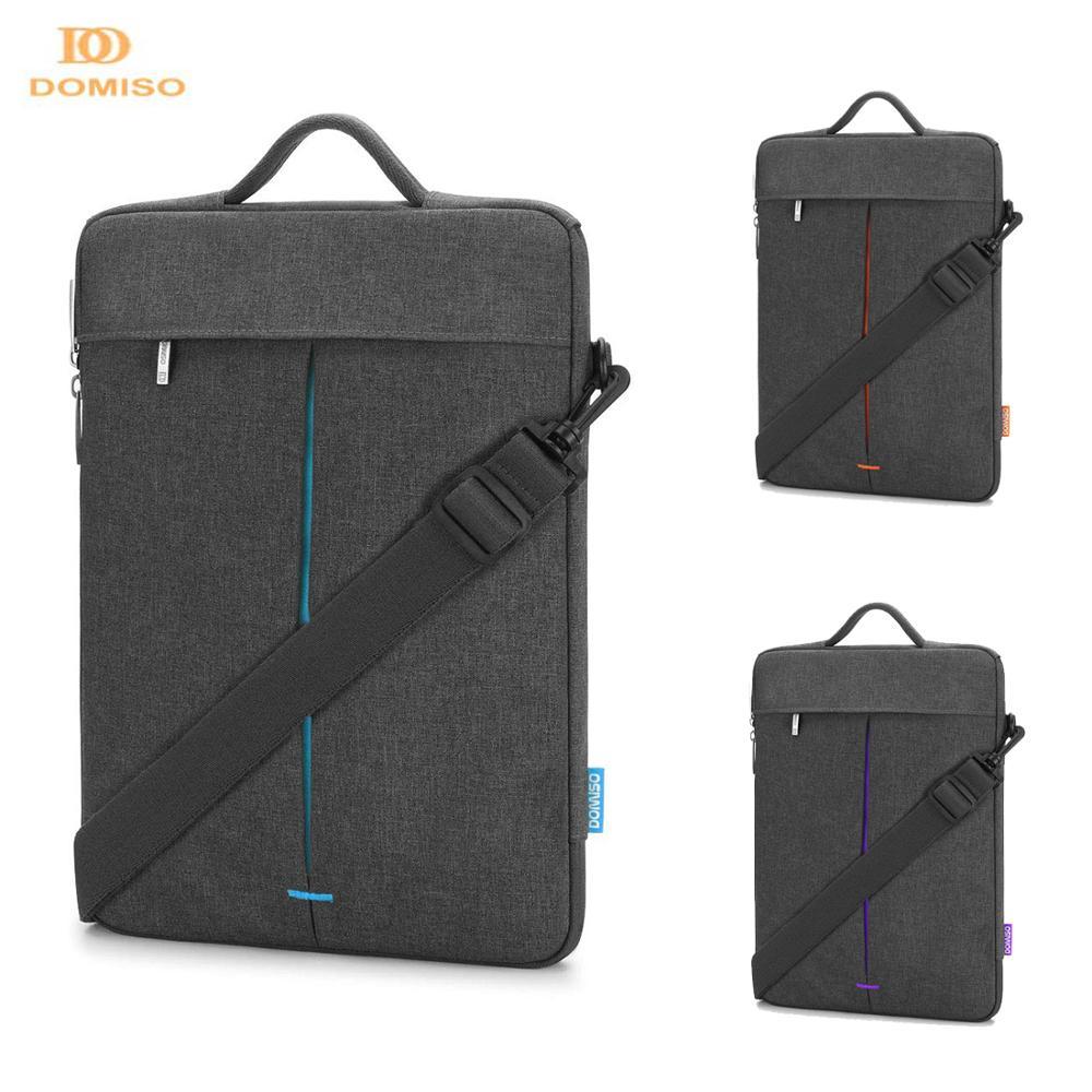 DOMISO 11 13 14 inch Water Resistant Laptop Sleeve Case Computer Messenger Shoulder Bag Notebook Briefcase