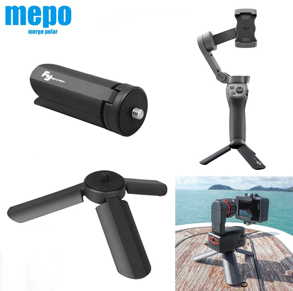 Foldable Gimbal Stabilizer Tripod Hand Grip For Osmo Mobile 3 2 Zhiyun Smooth 4 FeiYu Handheld Gimbal Camera Desktop Stand Base
