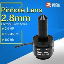 Lentille en trou de vue 2.8mm   Objectif monté CS 1/2.5