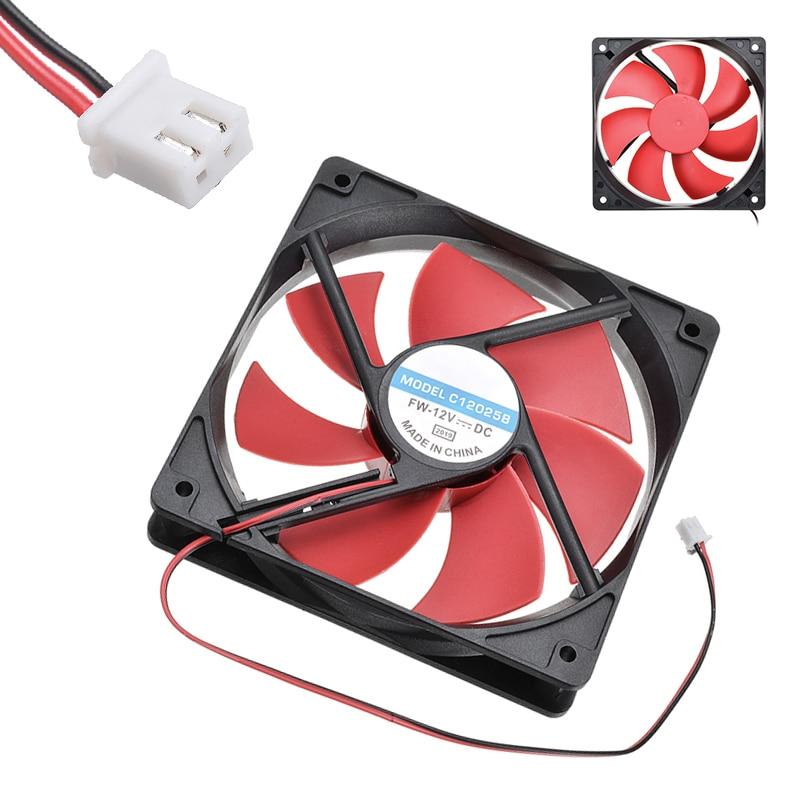 1 unidad de enfriador de ventilador de refrigeración por ordenador 12cm 120mm DC12V 1800R 2 pines para radiador de chasis de PC