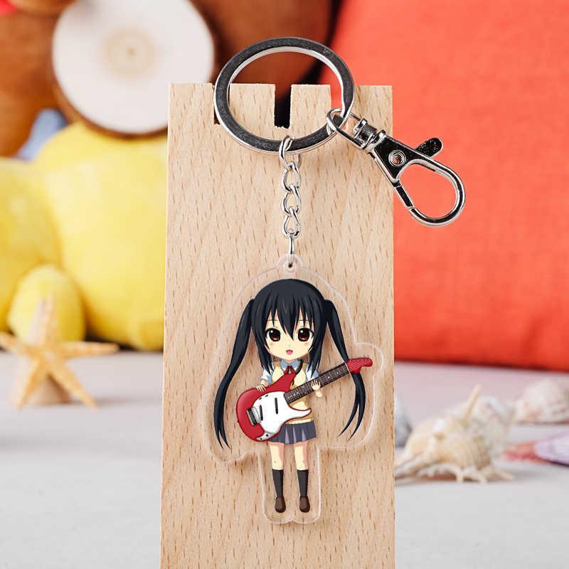 IVYYE K-ON niñas moda Anime acrílico llaveros llavero de dibujos animados llavero juguetes colgantes llavero Unisex regalos de cumpleaños nuevo