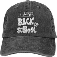 back to school customized printed pattern adjustable unisex baseball cowboy hat