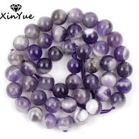 natural dream purple amethyst crystal beads round loose spacer for jewelry making diy bracelet handmade 681012mm