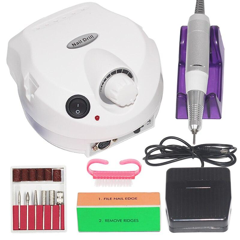 Electric Nail Drill 30000 RPM Manicure Machine Apparatus for Manicure Pedicure Nail File Tools Drill Polish Bits Tools Kits