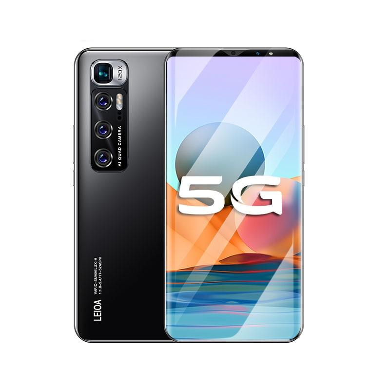 Radmi Note 10 Pro Smart phones 8GB+256GB smartphones 6.1 HD inch cellphones MTK 6763 mobile phones Faca ID adnroid 10.0 phone enlarge