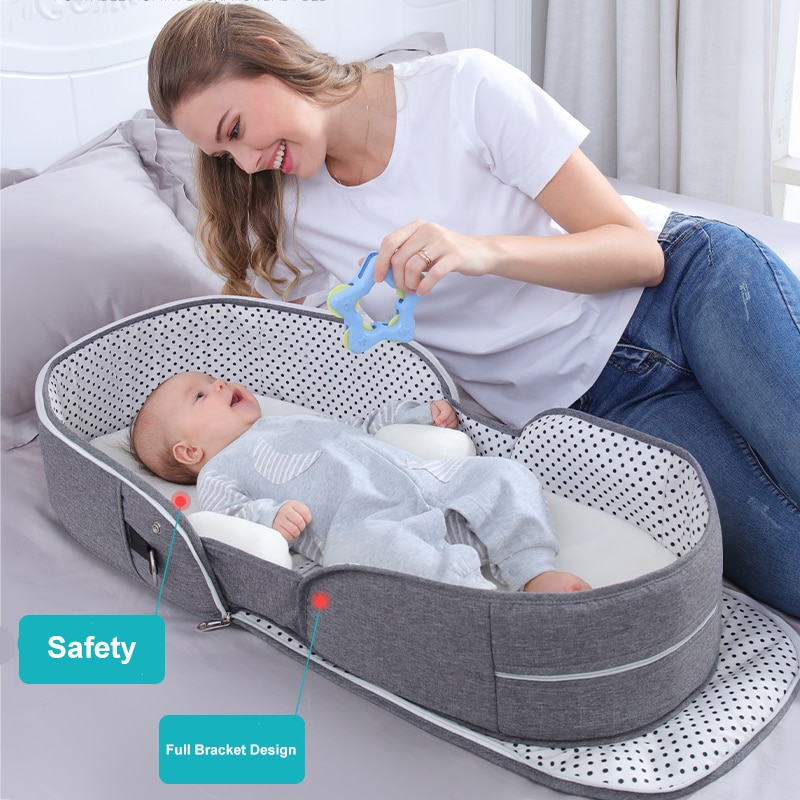 Breathable Portable Sleeping Baby Bed Crib For Baby Multi-Function Travel Mosquito Nest For Newborns Portable Cribs For Baby Bed enlarge