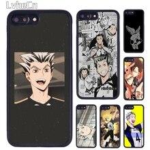 LvheCn Haikyuu Bokuto Téléphone Pour iPhone 5 SE 6s 7 8 Plus 11 12 Pro X XR XS Max Samsung galaxy S8 S9 S10 plus