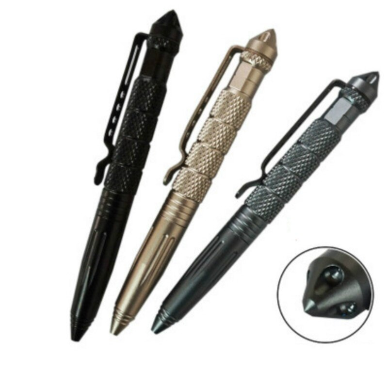 Practical Tactical Pens EDC Aluminum Glass Breaker Self Defense Survival Pen Multi-function Camping Tool for Writing