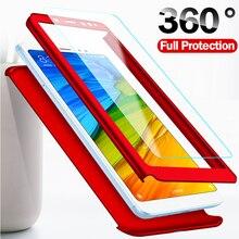 Luxe 360 couverture complète téléphone étui pour huawei Honor Y5 Y6 Y7 Y9 P Smart Z Pro Plus Prime 2018 2019 étui de protection avec verre