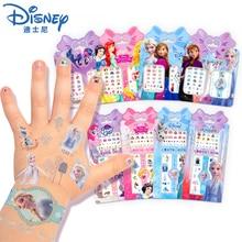 Girls Frozen 2 Elsa Anna Makeup Toys Nail Stickers Disney Snow White Princess Sofia Pony For Kids Waterproof Tattoo Stickers Toy
