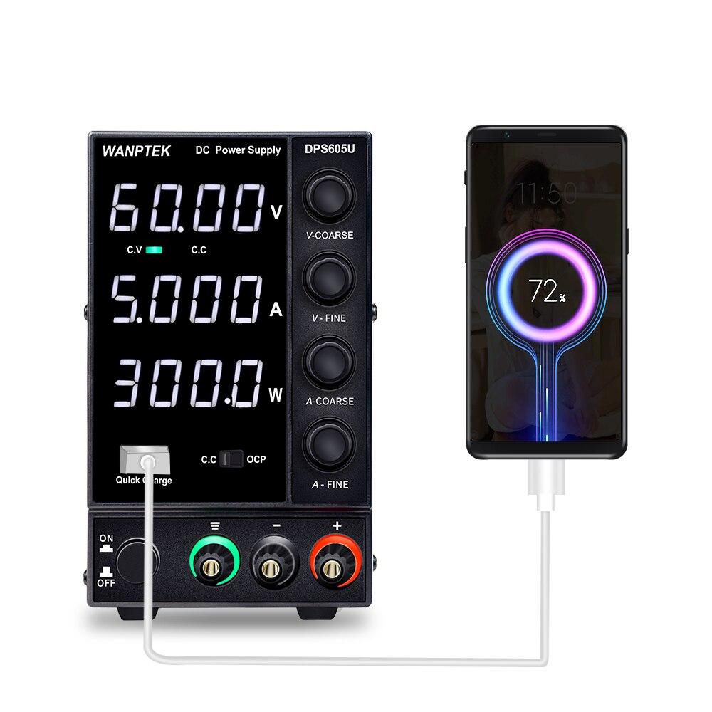 Wanptek قابل للتعديل تيار مستمر امدادات الطاقة 60 فولت 5A LED الرقمية منضدة معمل مصدر الطاقة الجهد المنظم التبديل استقرت امدادات الطاقة