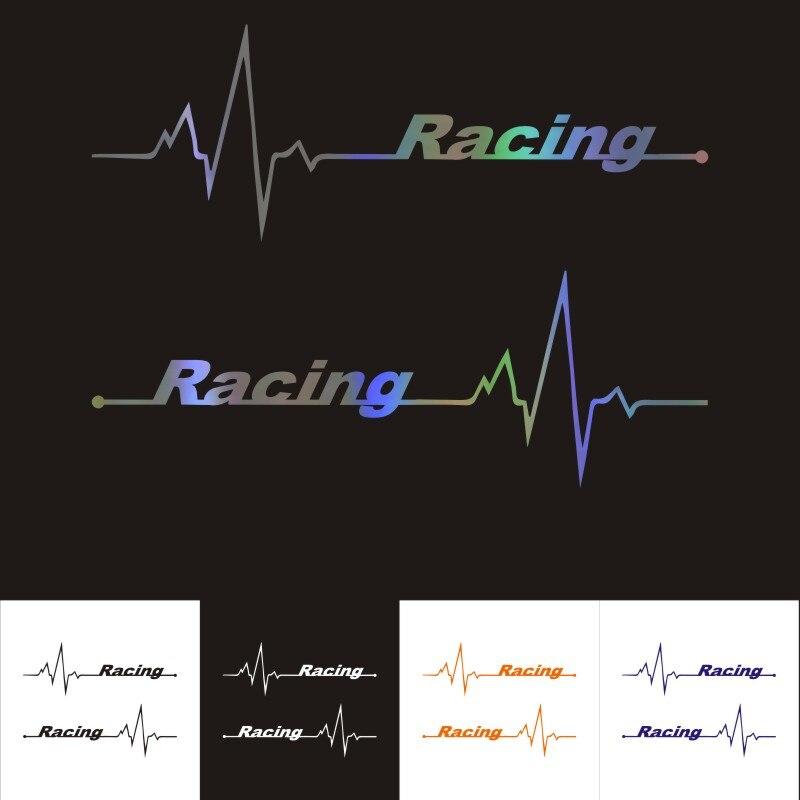3D Автомобильные наклейки Dawasaru, гоночные автомобильные мотоциклы с сердечным ритмом, персонализированные автомобильные стильные водонепро...