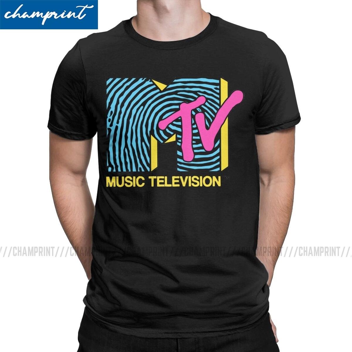 Camiseta de diseño de los 80s de Mtv Fingerprint para hombre Beavis y buthead, camisetas clásicas BB con dibujos musicales divertidos, Camiseta con cuello redondo de talla grande