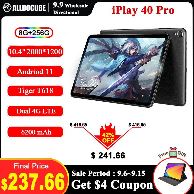 "Alldocube-tablet 40 pro 10.4 ""android 11, 2k, 2000x1200, 8gb ram, 256gb rom, unisoc, octa core, 4g lte, wifi duplo"