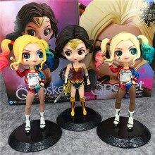 Q Posket Wonder Woman Harley Quinn poupée PVC Figurines Figurines à collectionner poupées modèle enfants jouets