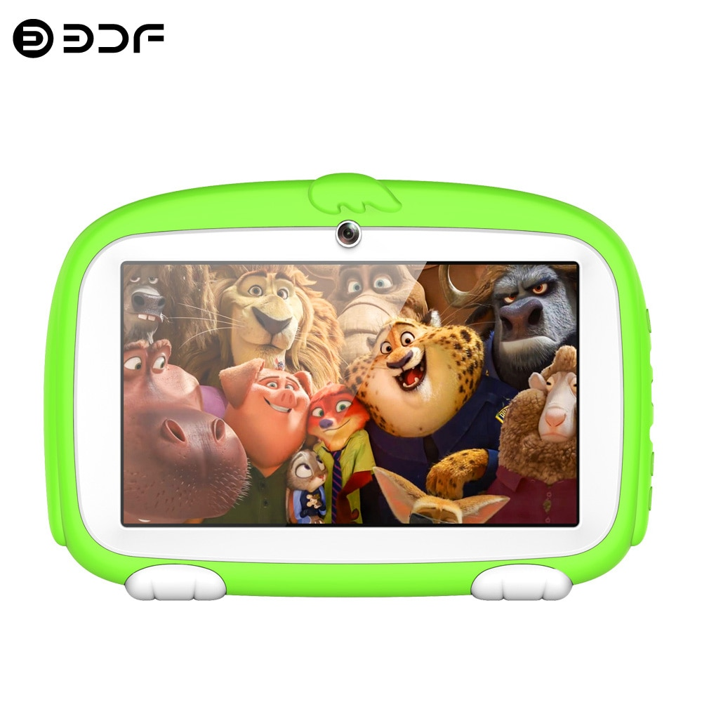 New 7 Inch Android 8.0 Google Play Kids Tablets Quad Core Dual Camera has Bluetooth WiFi Children's favorites Tablet Pc