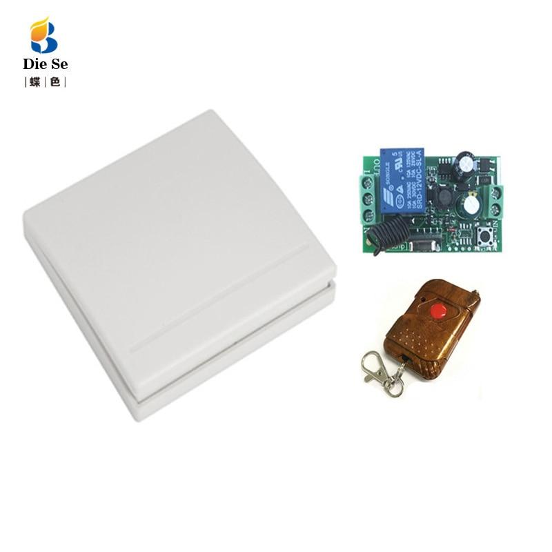 86 interruptor de Control remoto de Panel de pared AC 100V 220V 10Amp 1 gang RF interruptor para interruptor de bombilla LED para lámpara de luz interruptor inalámbrico ON/OFF