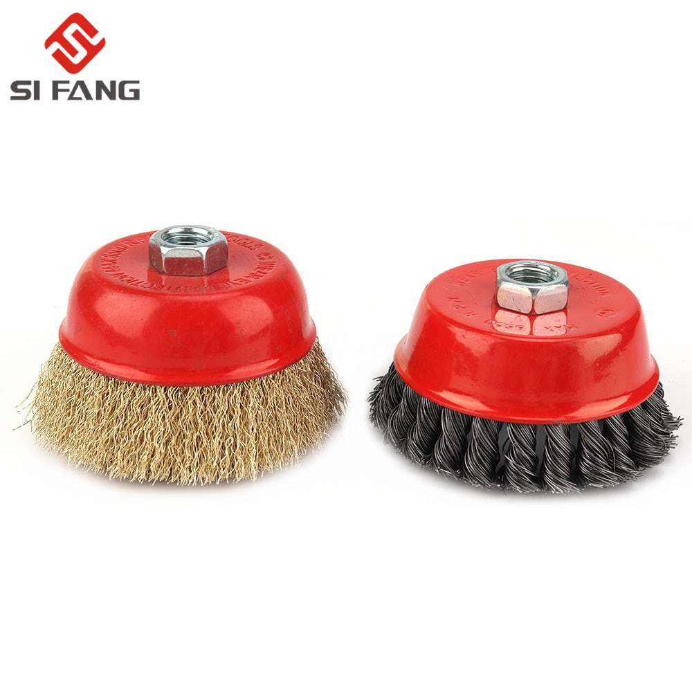 wire drawing machine grinding wire drawing wheel polishing brush polishing wheel brush roller bristle brush grit brush 80 hx6c 4inch 100mm Knot Steel Wire Cup Wheel Brush For Metal Polishing Derusting Wire Wheel Brush Disc For Angle Grinder