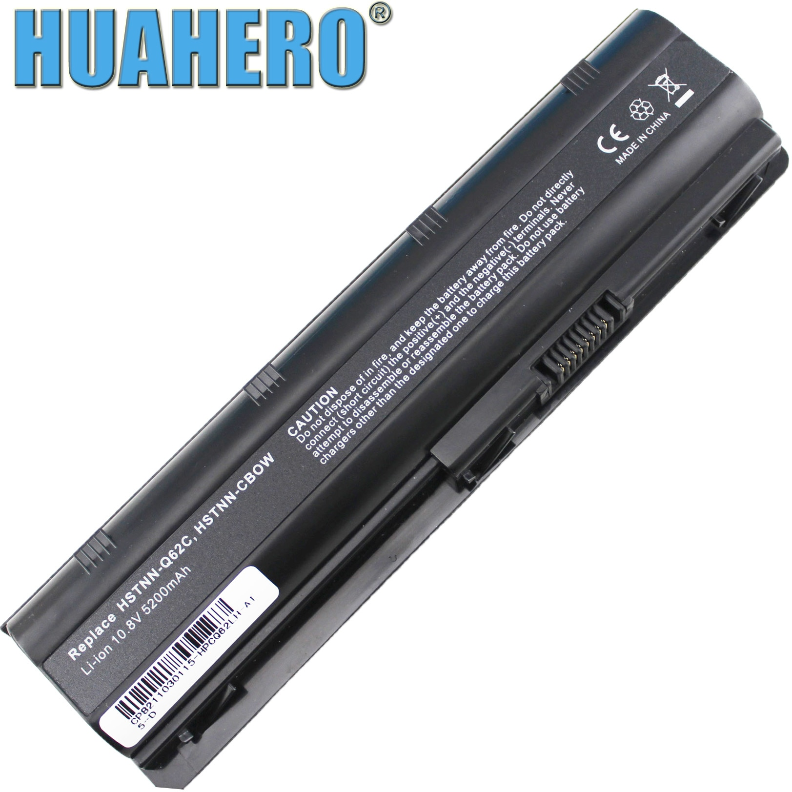 HUAHERO MU06 593553-001 Battery for HP 2000-425NR Notebook CQ32 CQ42 CQ56 CQ62 CQ72 G32 G42 G56 G62 DM4 G72 CQ43 MU09 593554-001 znovay mu06 laptop battery for hp pavilion g4 g6 g7 cq42 cq32 g42 cq43 cq62 g32 dv6 dm4 g72 593562 001battery mu09 10 8v 47wh