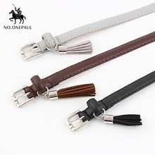 NO.ONEPAUL Jeans Fashion Individual Belt Women's high quality fashion round alloy buckle jeans with