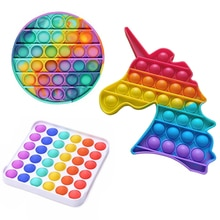 Pop It Hot Push Bubble Fidge Toys Adult Stress Relief Toy Antistress PopIt Soft Squishy Anti-Stress