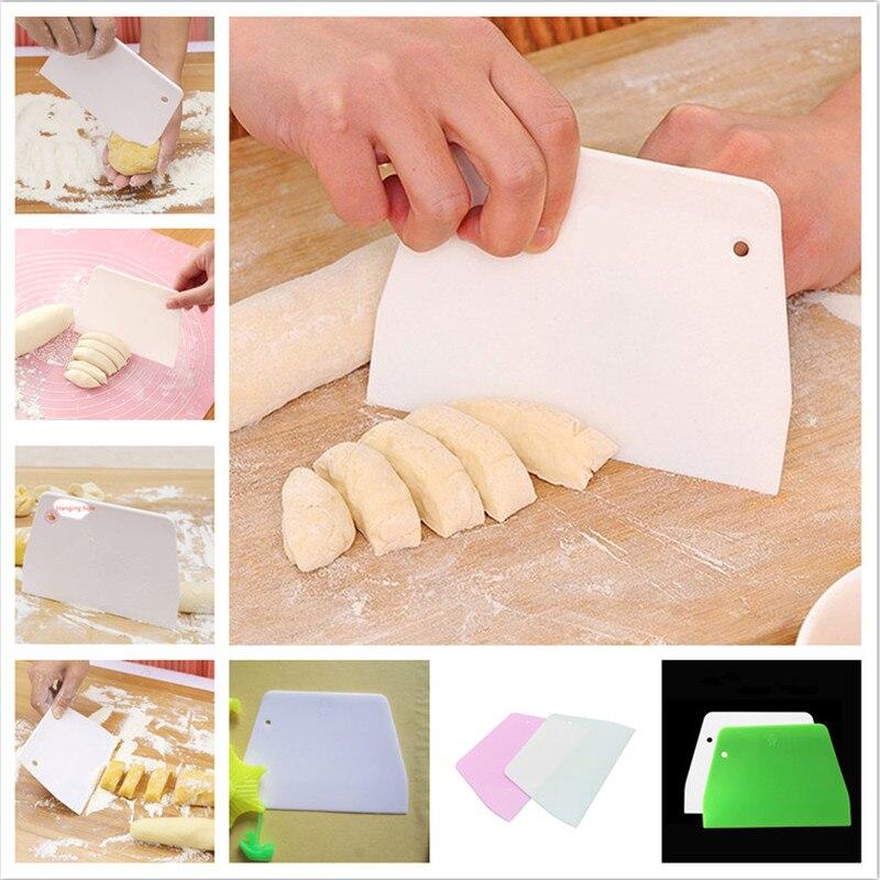 Espátula trapezoidal de pastel suave de 5 uds., herramientas para repostería, espátula para masa, cocina, cuchillo para mantequilla, cortador de masa de alta calidad