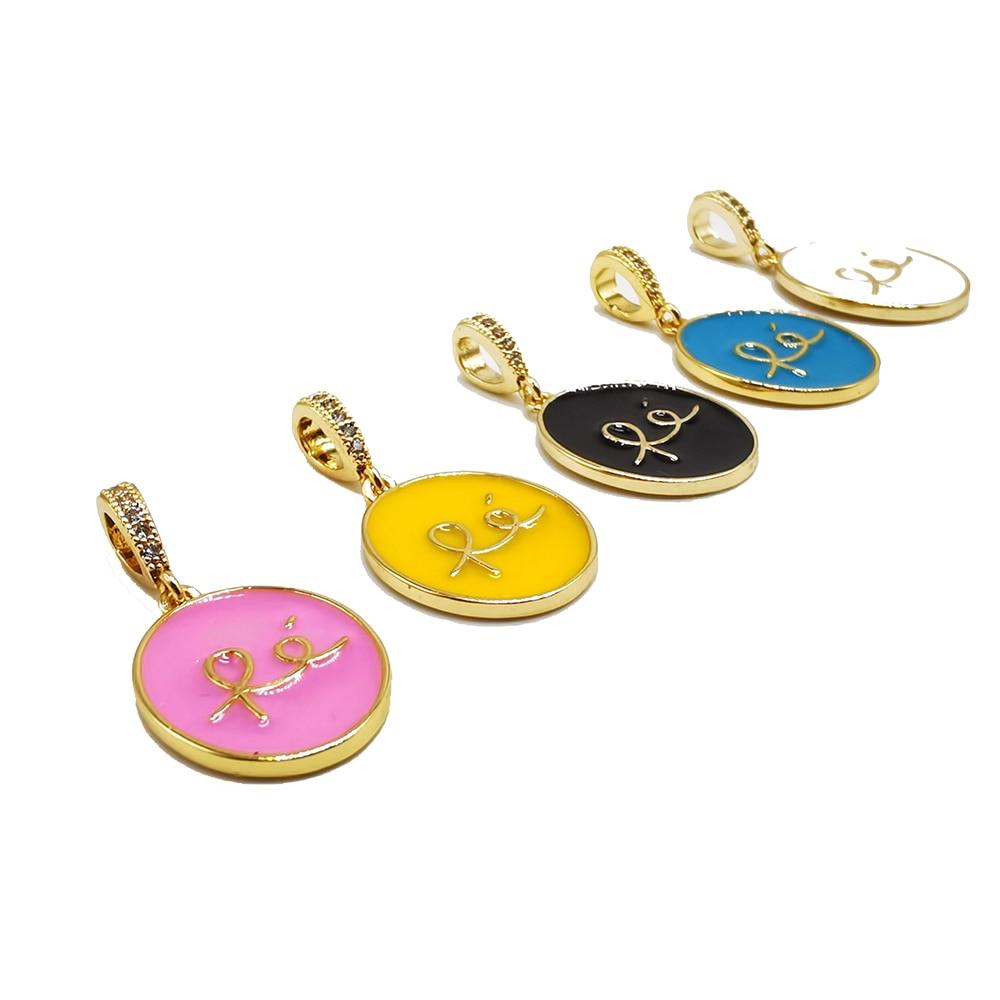 New Quality Copper Cubic Zirconia Gold FE Necklace Women Men Fashion Pendant Long Chain Necklace Fin