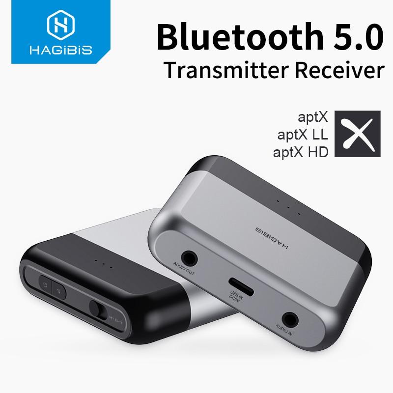 هاجيبيس بلوتوث 5.0 جهاز ريسيفر استقبال وإرسال AptX LL HD للتلفزيون سماعة البصرية 3.5 مللي متر AUX محول الصوت ل PS4 نينتندو سويتش