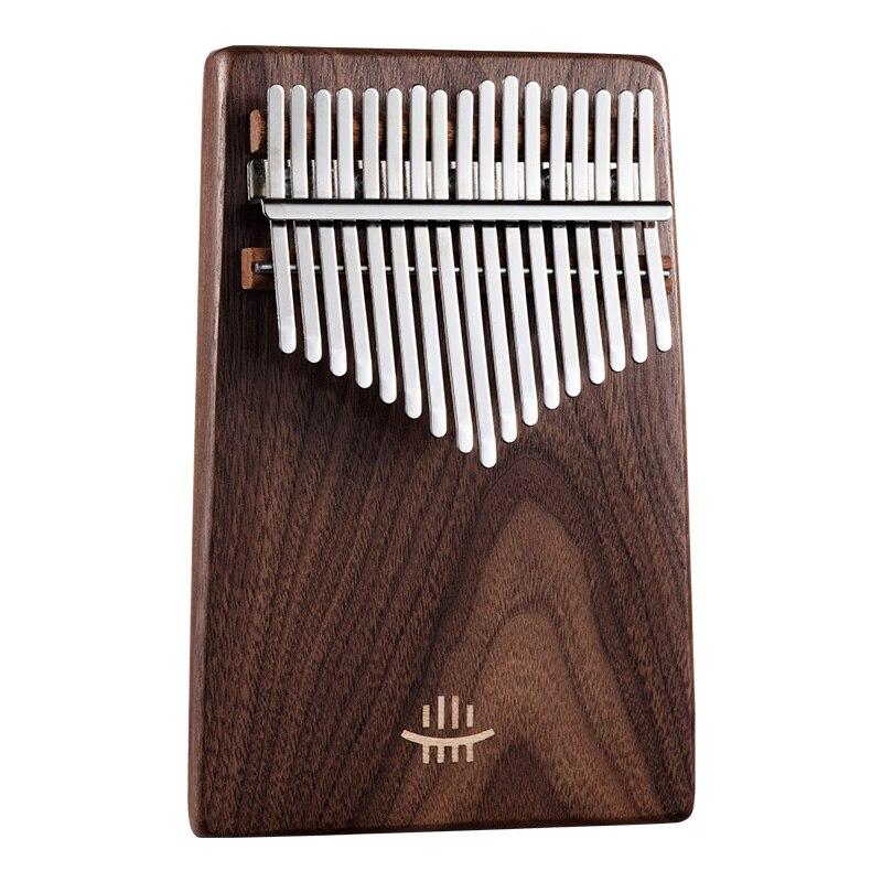 Instrumentos de Música Caliba com Bolsa Preta Kalimba Teclado Chave Hluru Alta Qualidade Polegar Piano Noz 17