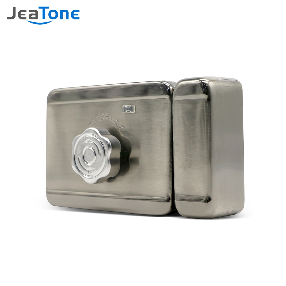 smart video intercom system door lock voip product for moden hotel office apartment waterproof video intercom with door release Jeatone Electric Lock for Home Video Intercom Video Door Phone Wired Remote Unlock with Smart Card Home Security System Kit