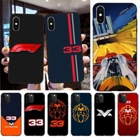 f1 racer lucky number 33 phone case for iphone 6 6s 7 8 plus xr x xs xsmax 11 12 pro mini max