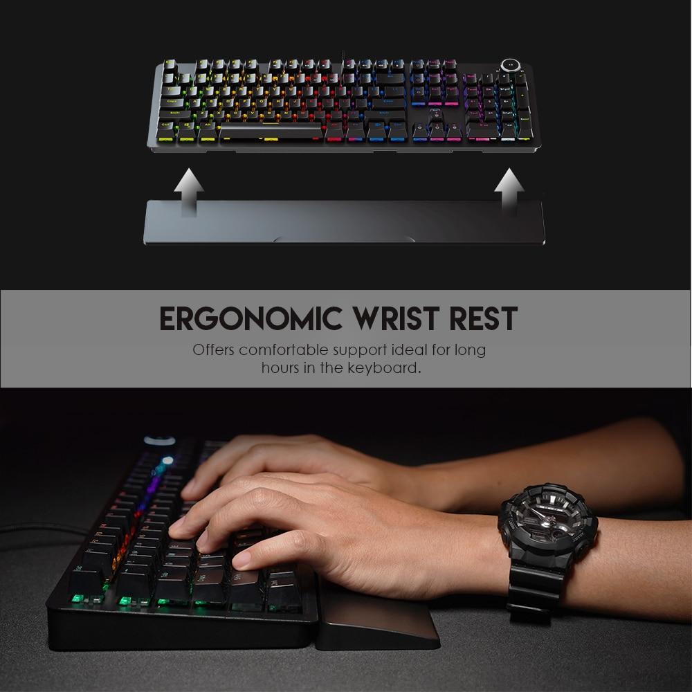 FANTECH 104 Keys MK853 USB Wired Gaming Mechanical Keyboard Notebook Desktop Tablet Keyboard White Backlit For Keyboard Gamers