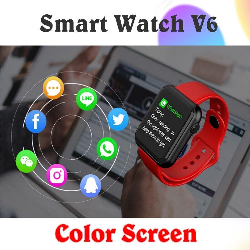 Smart Health Bracelet Pedometer Heart Rate Blood Pressure Monitoring Pedometer V6 Sports Fitness Color Screen Watch Bracelet enlarge