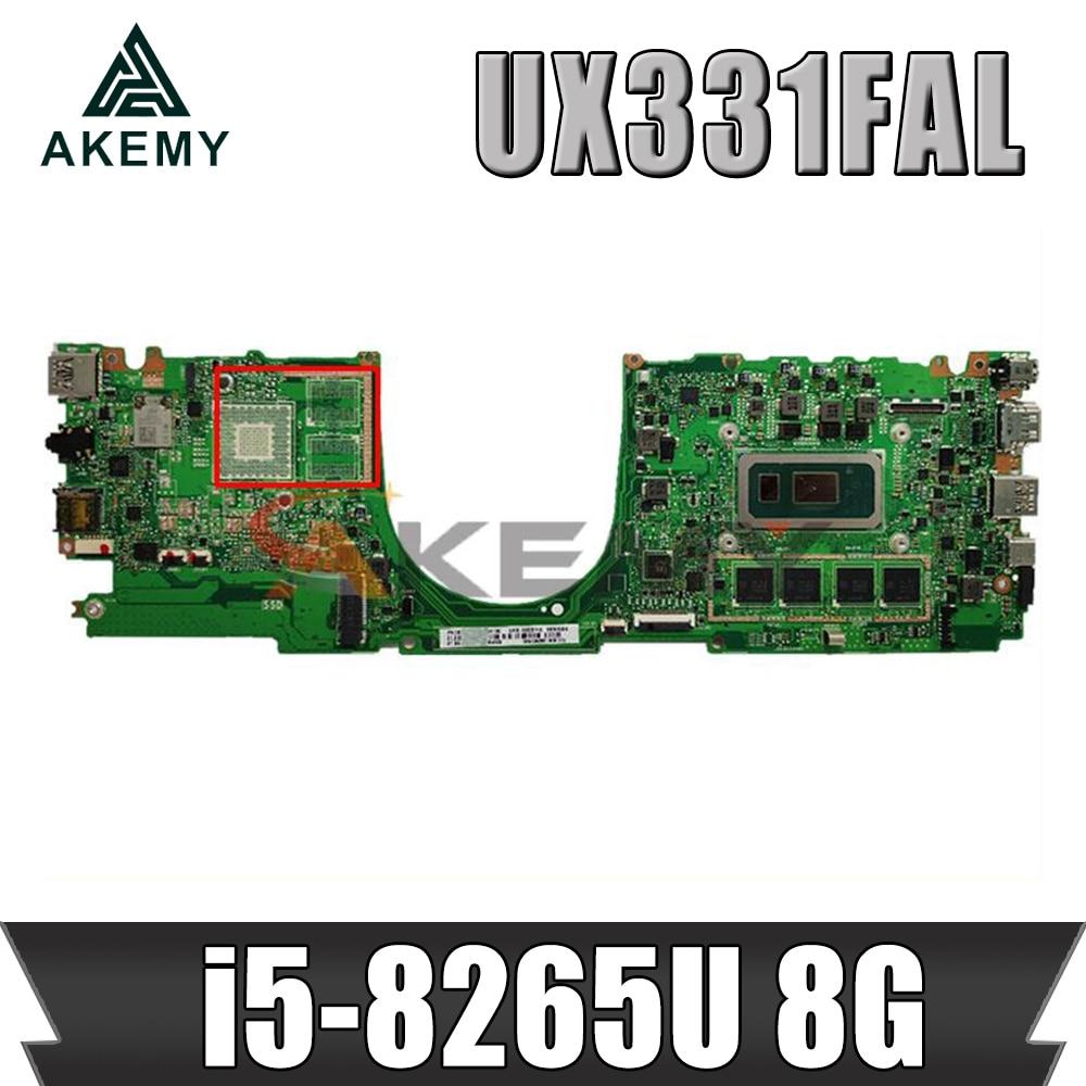 Ux331f ل ASUS ZenBook 13 UX331FN UX331FAL اللوحة المحمول الأصلي اللوحة الرئيسية 100% اختبار OK I5-8265U 8G-RAM