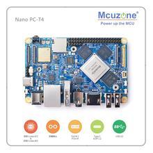 NanoPC-T4 Rockchip RK3399Cortex-A72 Cortex-A53 VR AI OpenCV TensorFlow MIPI double bande wifi M.2PC EC20 4G 16GB