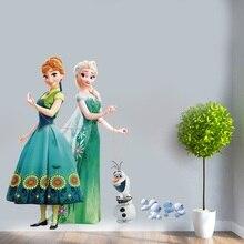 Autocollant reine des neiges pour enfants   Autocollant Pegatinas, Puzzle ella anna, décoration de chambre denfants maternelle