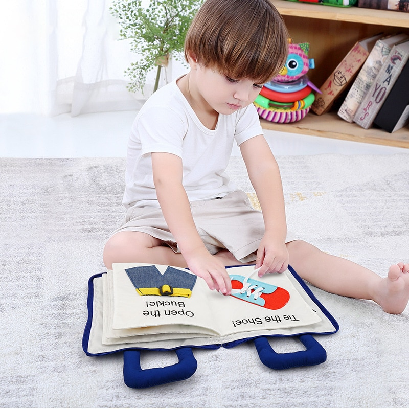 macmillan starter book activity book Baby Cloth Book Toys with Zipper Interactive Stories Soft Book Educational Development Touch Feel Activity Books