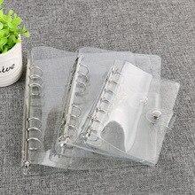 Plastic Clip File Folder A5/A6/A7 Notebook Loose Leaf Ring Binder Planner Agenda School Office Supplies folder organizer
