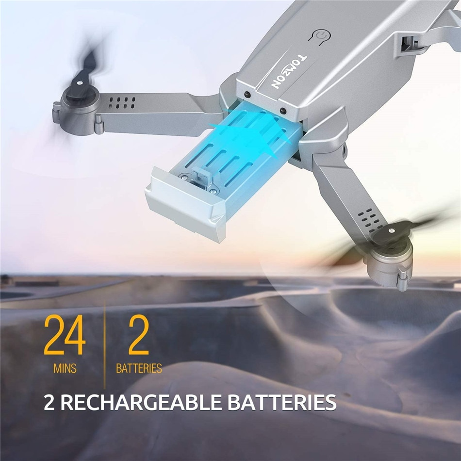 Tomzon D25 Easy to Fly Wifi FPV Foldable Drone for Adults with 4K Camera 3D Flips RC Quadcopter Mini Toys 2 Batteries enlarge