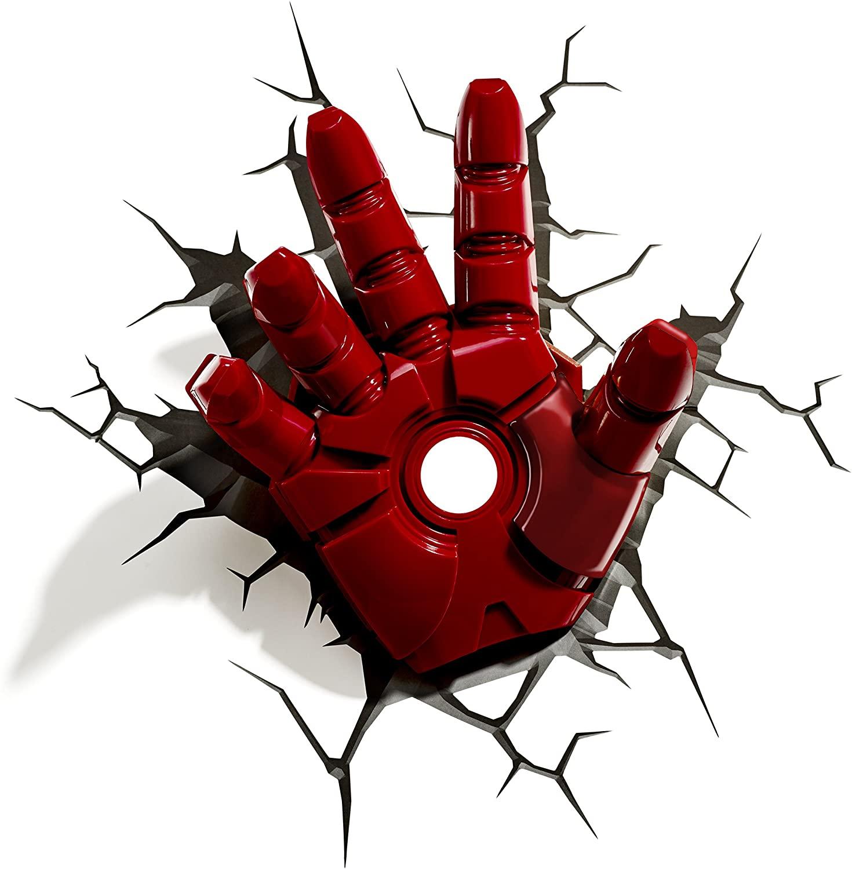Marvel Avengers Iron Man Hand 3D Deco Light,Red enlarge