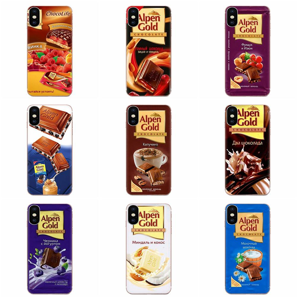 TPU de Proteção Para Galaxy Grand A3 A5 A7 A8 A9 A9S On5 On7 Plus Pro Estrela 2015 2016 2017 2018 coqinqfunny Chocolate