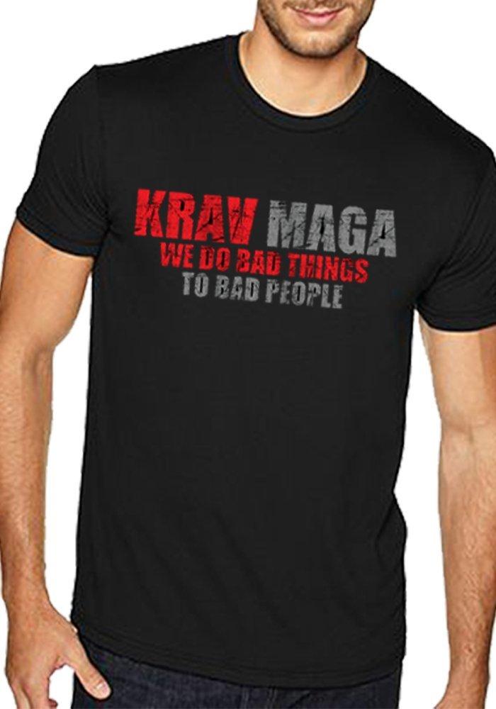 "2019 moda gran oferta Krav Maga tri-blend camisa-Krav Maga camiseta ""Bad Things"" Camiseta"