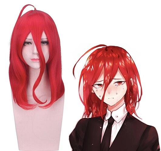 Pelucas Cosplay de la tierra del Anime de los lustrosos peluca cinabrio Cosplay peluca sintética pelo Halloween fiesta Houseki No Kuni mujeres peluca