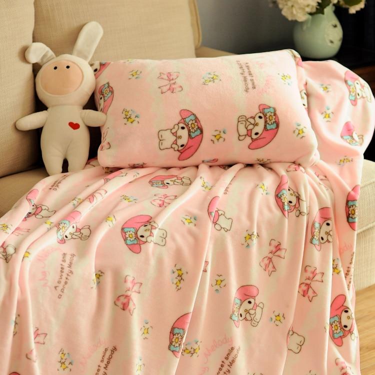 Manta de franela de melodía Linda juguete conejito de peluche conejo de dibujos animados regalos de estilo de niña