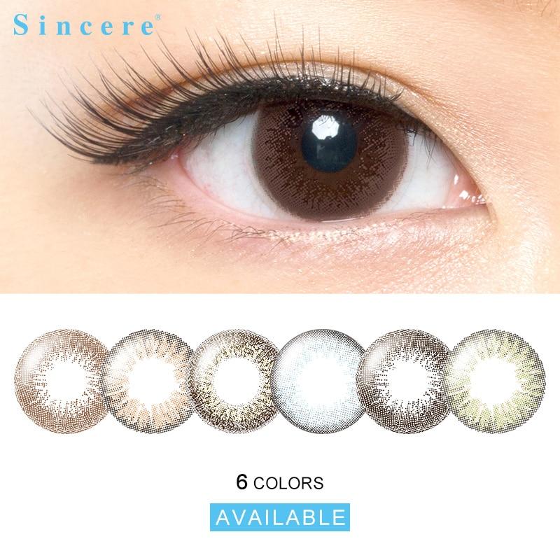 2 lentes/par de lentes de ojos lentes de contacto de colores lentes de contacto de apariencia Natural mensual lanzamientos de lentes de contacto para ojos usados durante 30 días