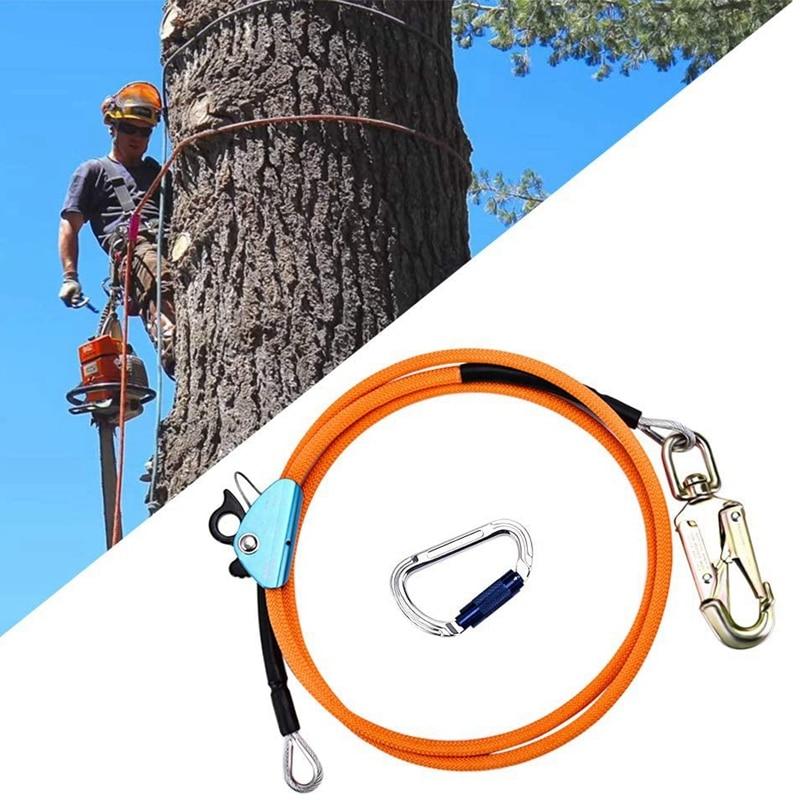 حار 1/2 بوصة x 8 بوصة أسلاك الفولاذ الأساسية الوجه خط عدة تسلق تحديد المواقع حبل ل Arborists المتسلقين شجرة المتسلقين